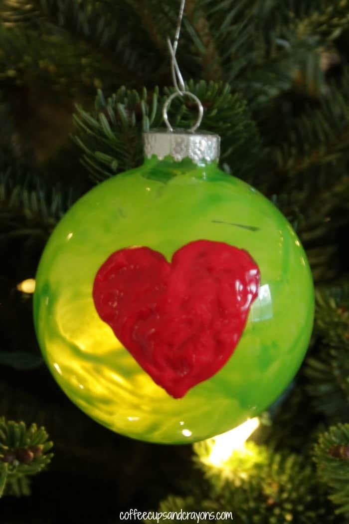 Grinch's Heart Christmas Ornament