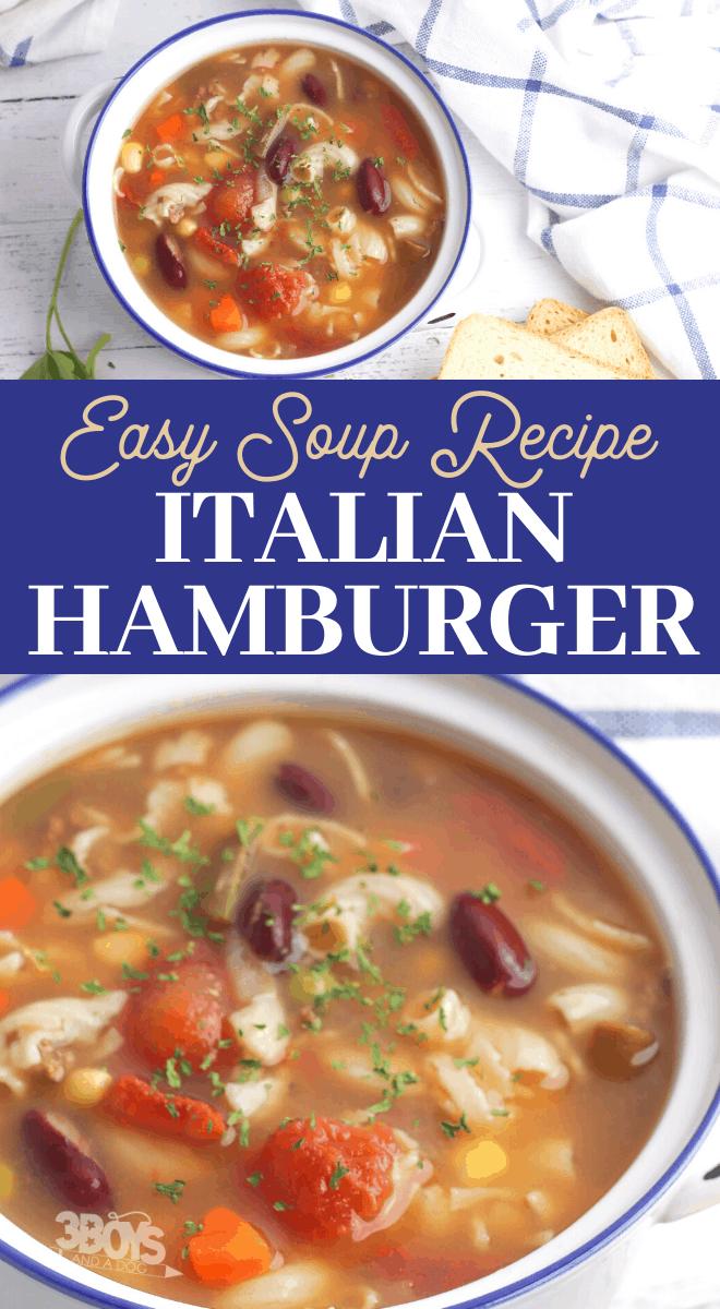 Italian hamburger soup