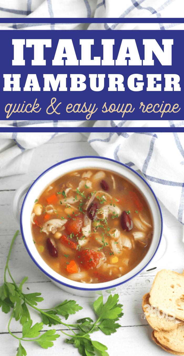 italian hamburger soup recipe