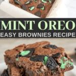 homemade mint oreo brownies for dessert