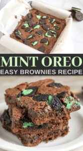 homemade mint oreo brownies for dessert