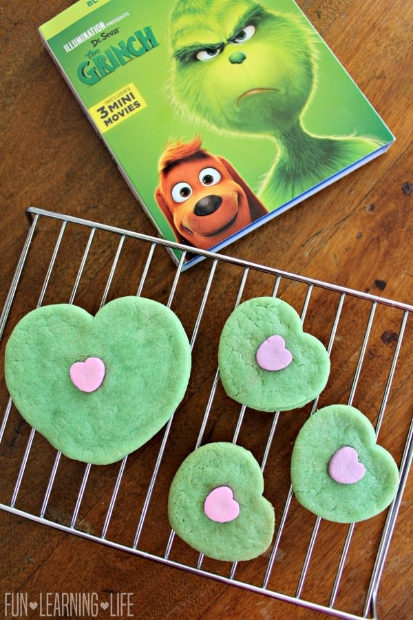 Grinch Heart Cookies