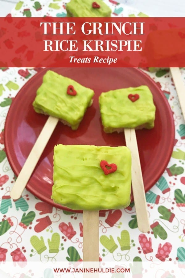 Grinch Rice Krispie Treats Pops