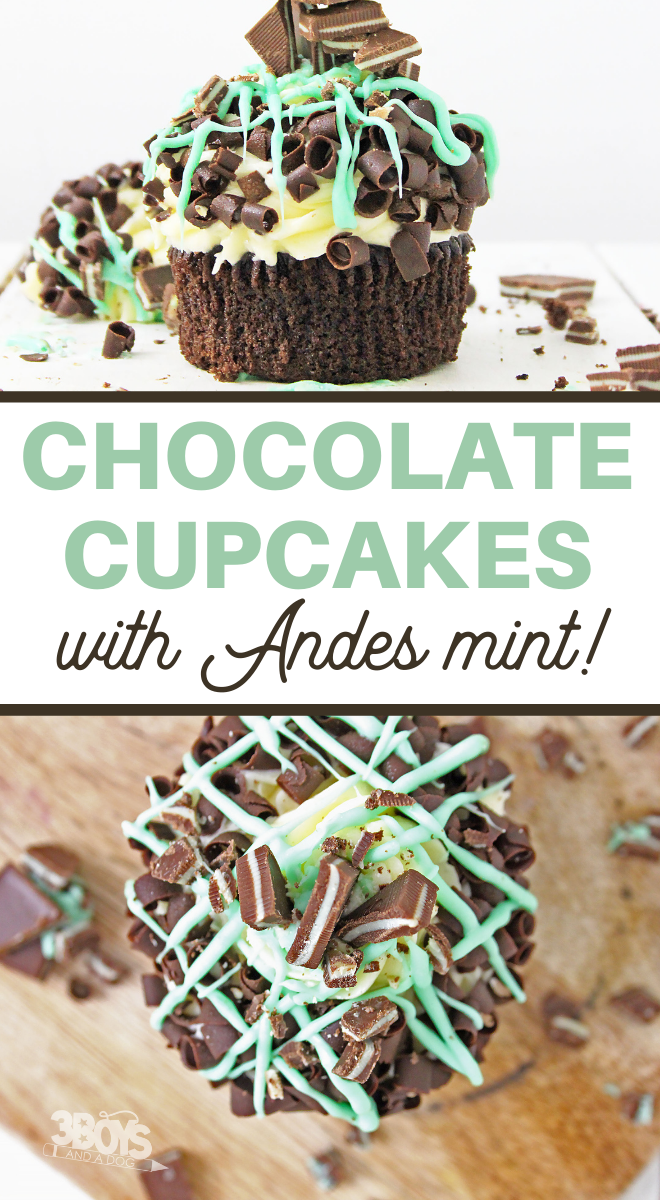 andes chocolate cupcakes