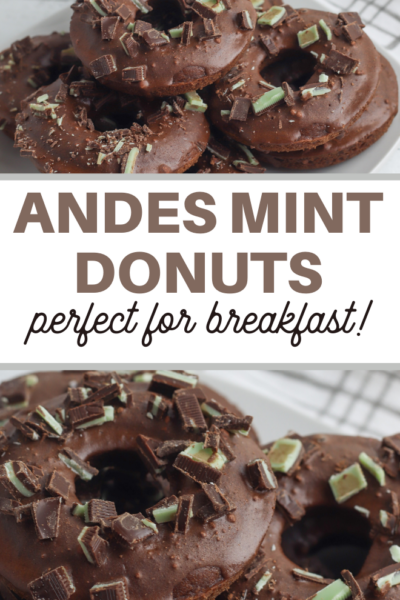 these doughnuts taste like a thin mint cookie