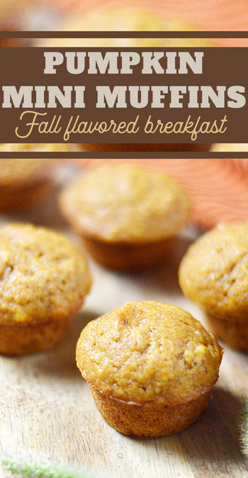 wow your guests with the delicious fall flavors of these pumpkin mini muffins