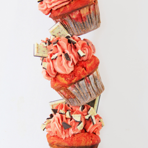 peppermint cupcakes from a boxed mix recipe