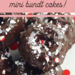 chocolate peppermint crunch mini bundt cake recipe
