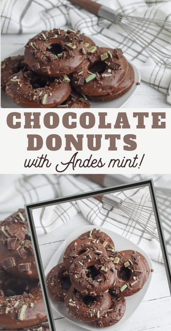 chocolate mint doughnuts