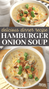 hamburger soup with onion soup mix