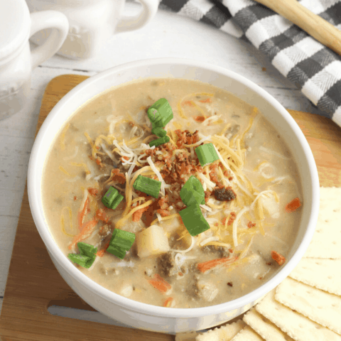 ground beef and onion soup mix make a comforting dinner