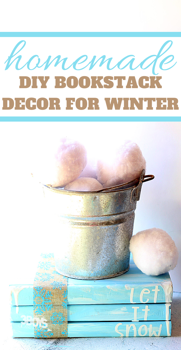 how to make your own book decor accent pieces for winter
