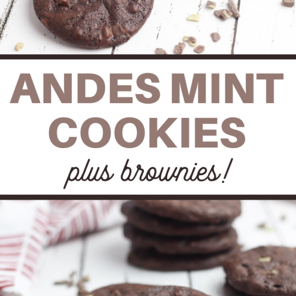 chocolate and mint cookies
