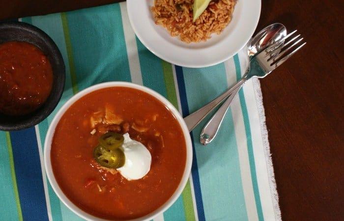 3-Ingredient Chicken Tortilla Soup