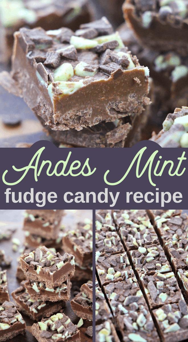 Andes mint baking pieces makes a delicious mint fudge recipe