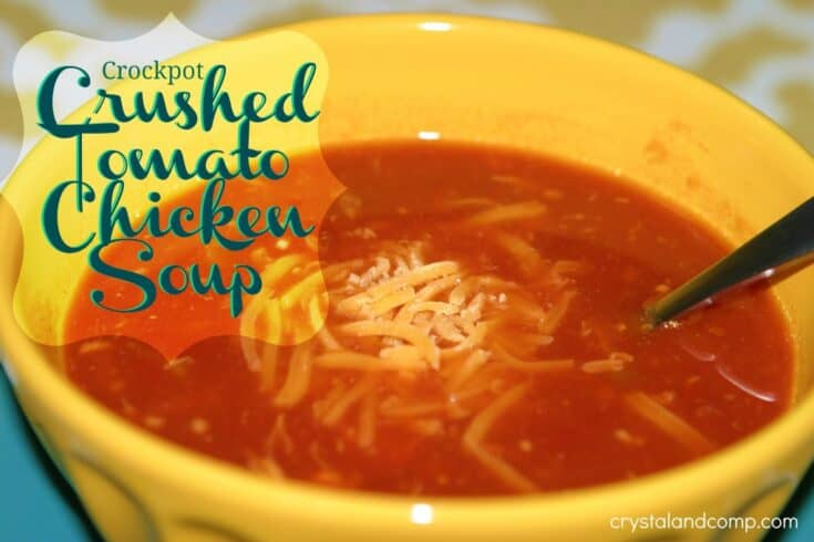 Crockpot Crushed Tomato and Chicken Soup