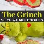 how to make easy grinch slice and bake heart cookies