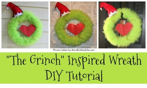 The Grinch Inspired Wreath DIY Tutorial