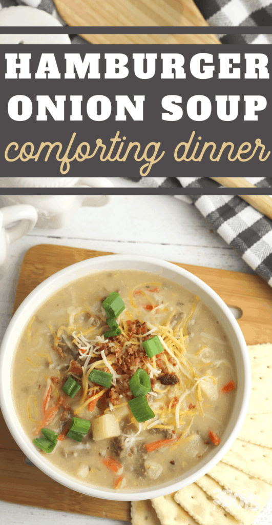 comforting hamburger soup with onion soup mix