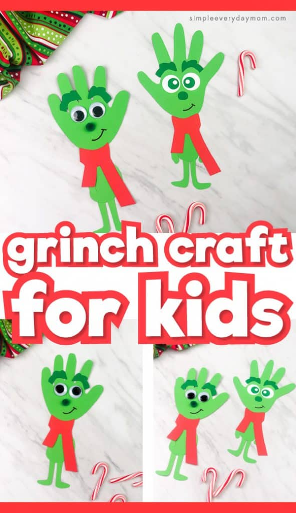 Make This Young Grinch Handprint Craft For Christmas