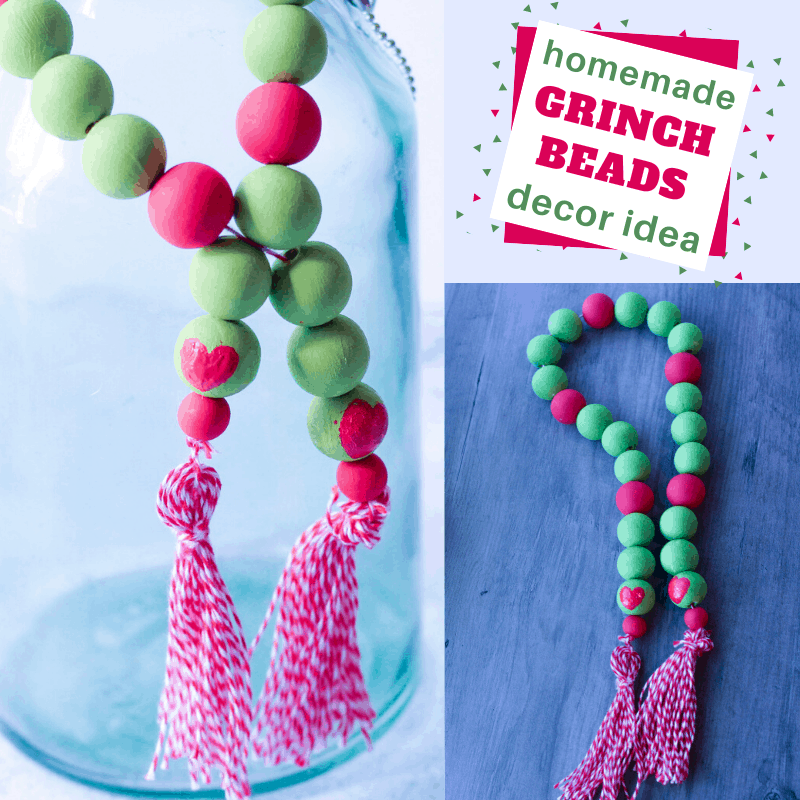 homemade decor idea The Grinch Farmhouse Beads