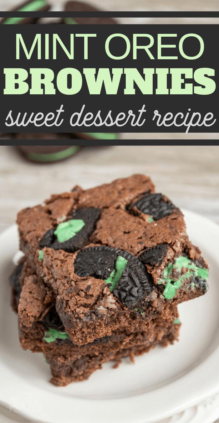 OREO Mint Brownies or chocolate mint brownies recipe