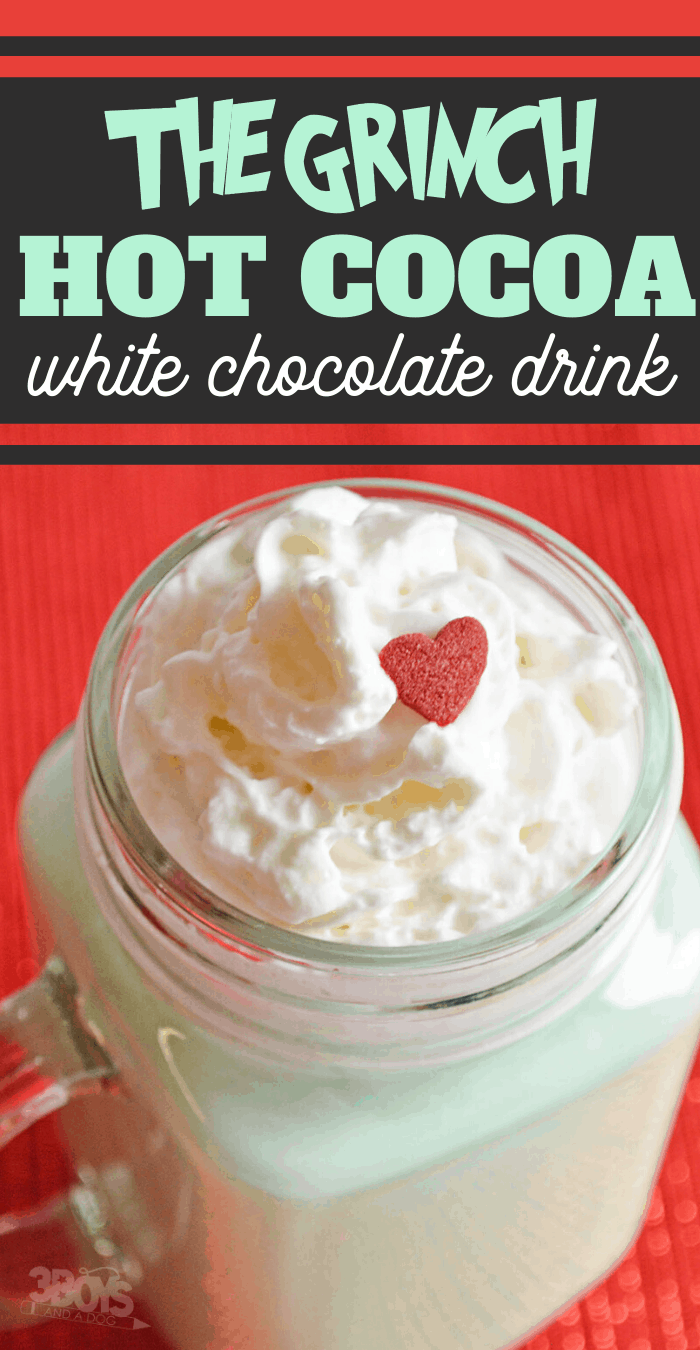 easy Grinch hot cocoa