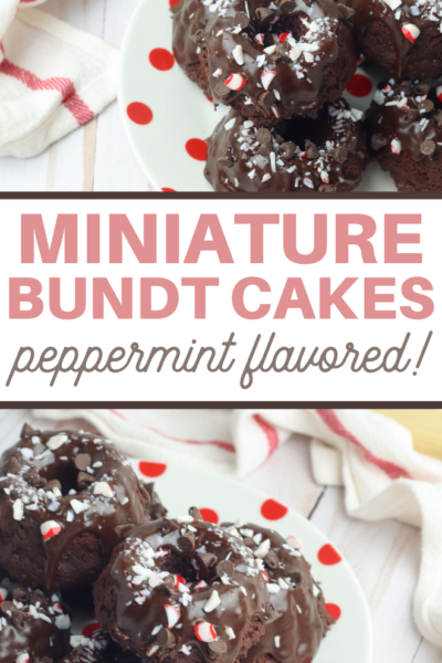 chocolate peppermint mini bundt cake