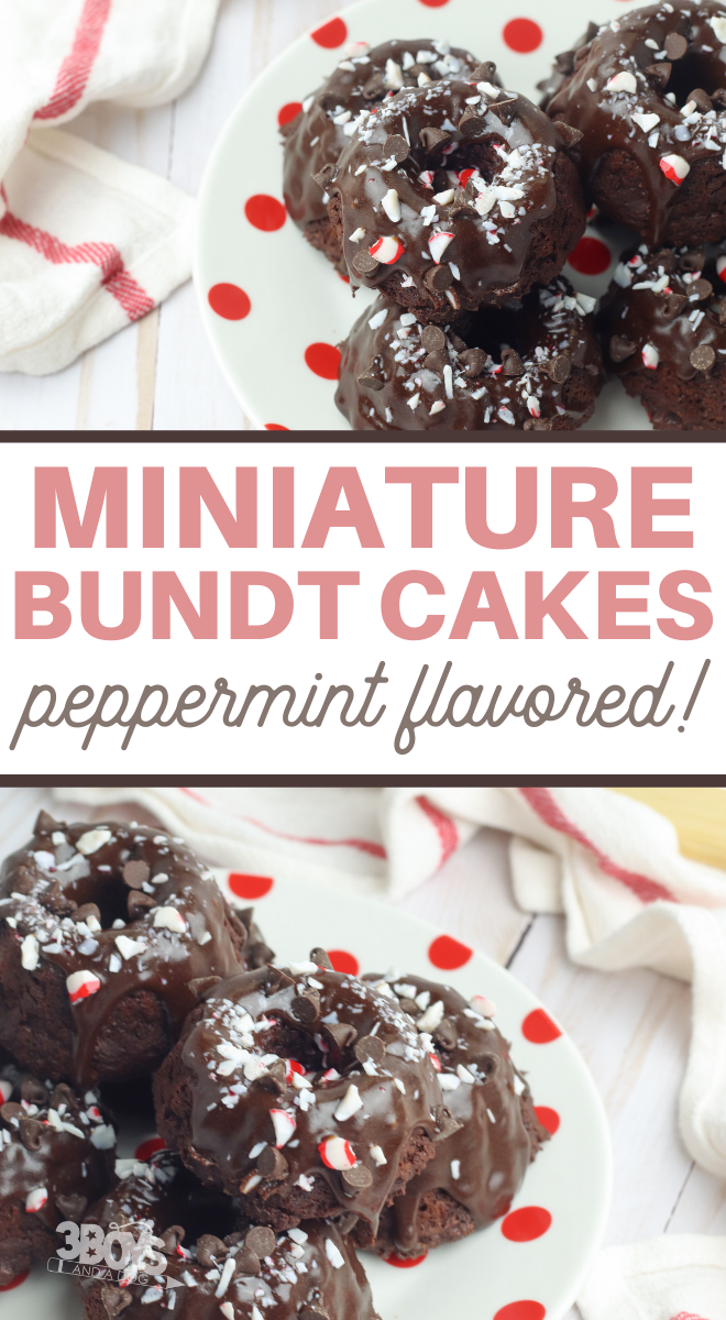 chocolate peppermint mini bundt cake