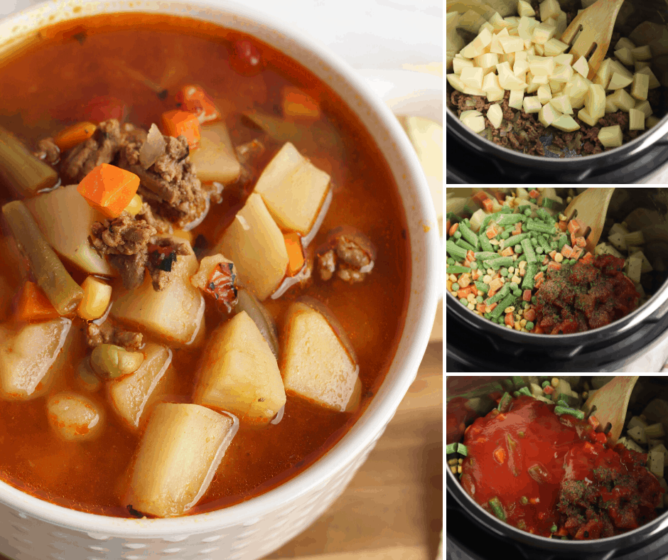 how to make hamburger soup in an instant pot
