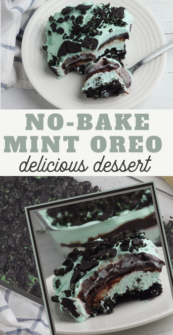 heavenly mint oreo dessert