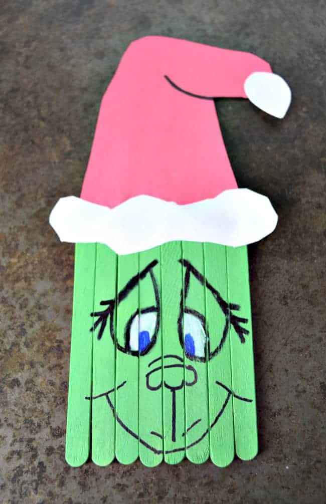 Popsicle Stick Grinch Craft