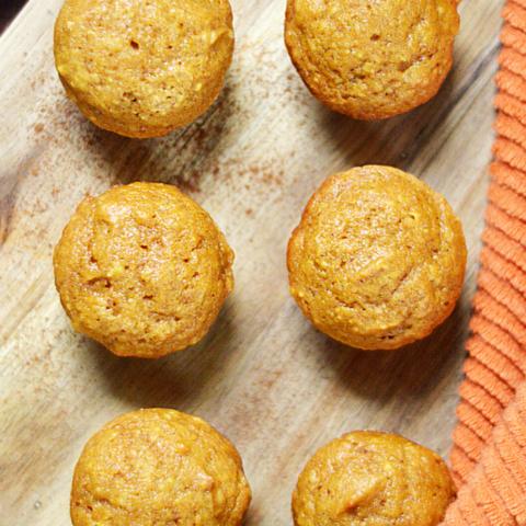 delicious breakfast of pumpkin in a bite sized mini muffin