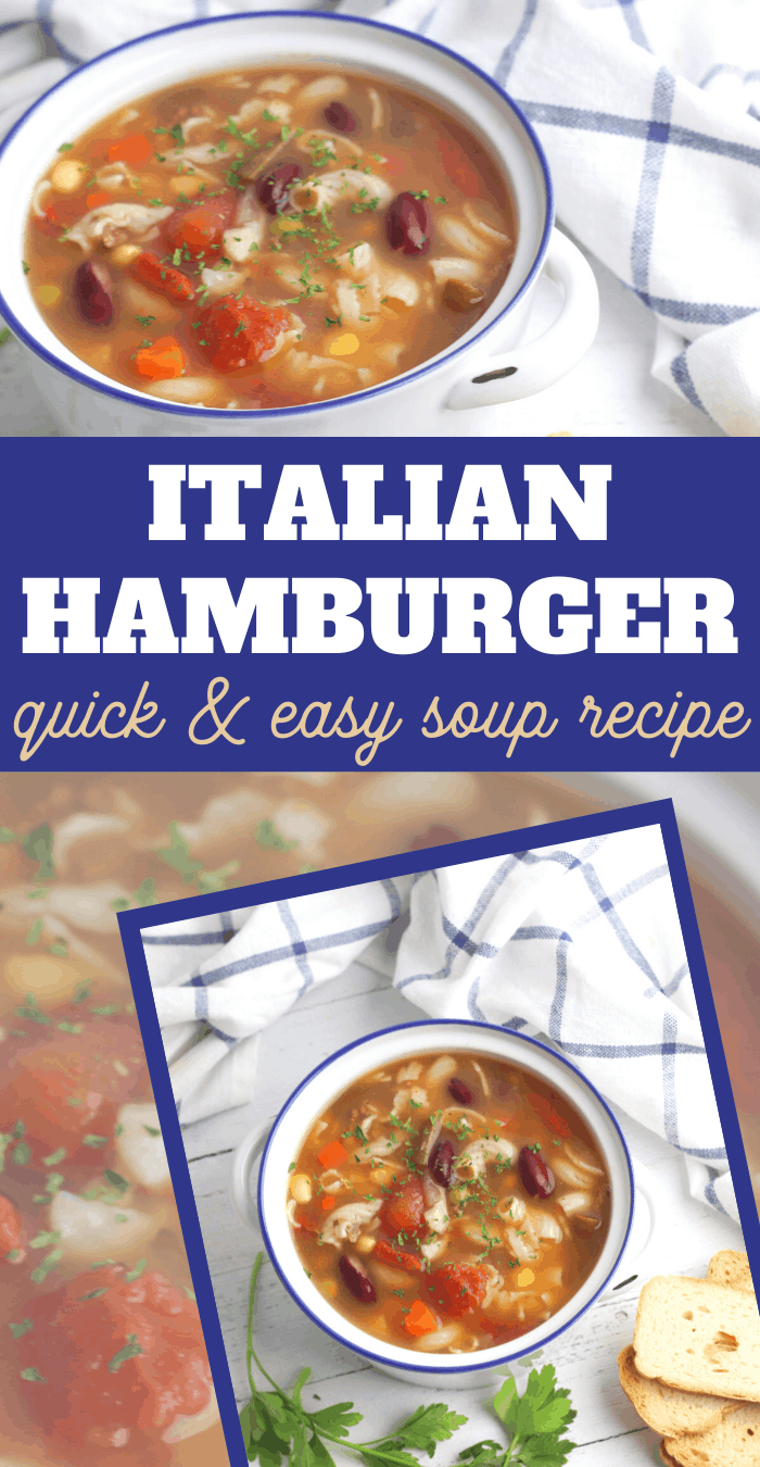 ground beef and vegetables come together in an italian seasoning tomato based soup