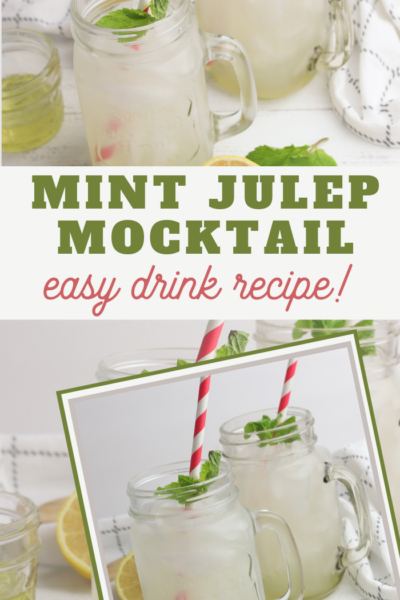 mint tea julep mocktail