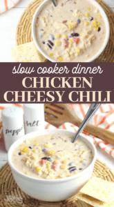 cheesy chicken chili crockpot recipe
