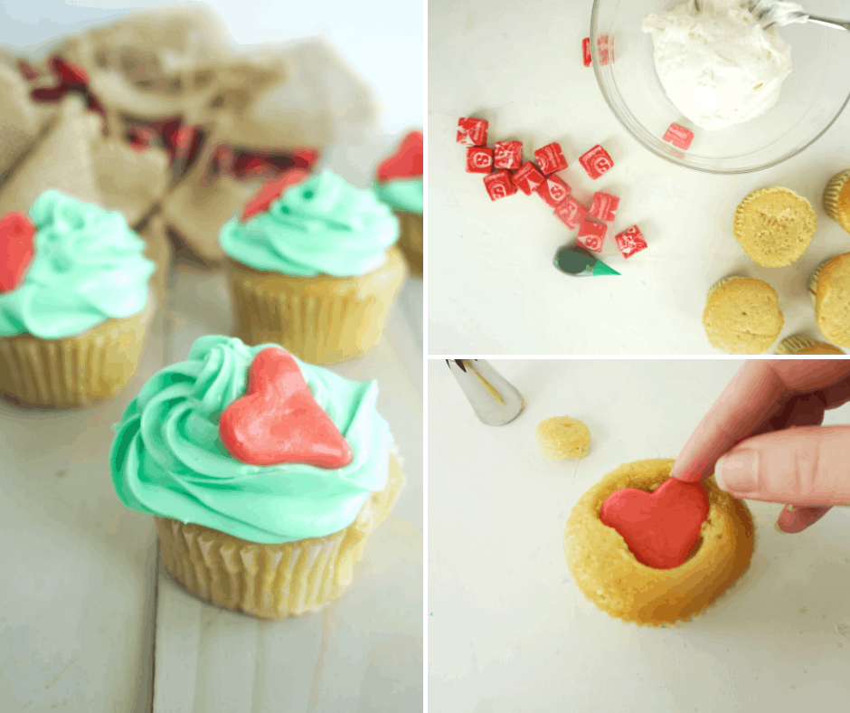 how to make easy grinch cupcakes with a hidden surprise
