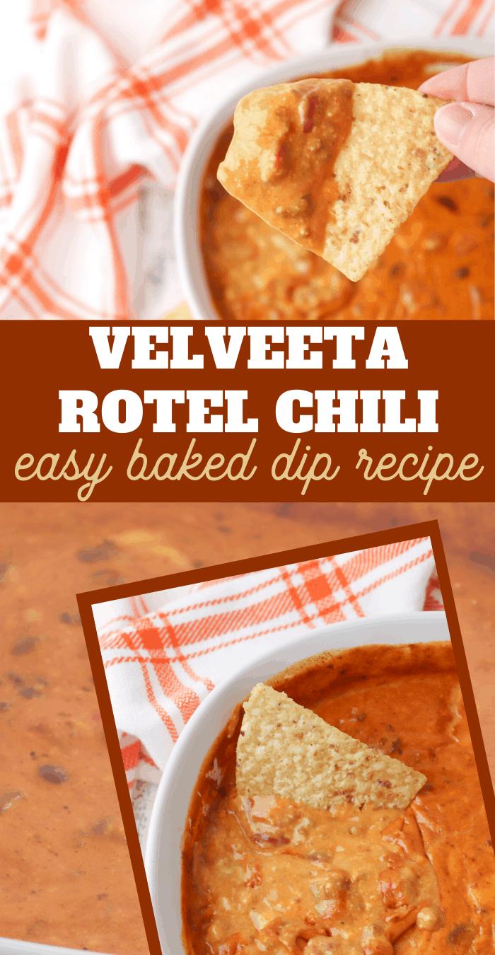 delicious rotel chili and velveeta dip recipe
