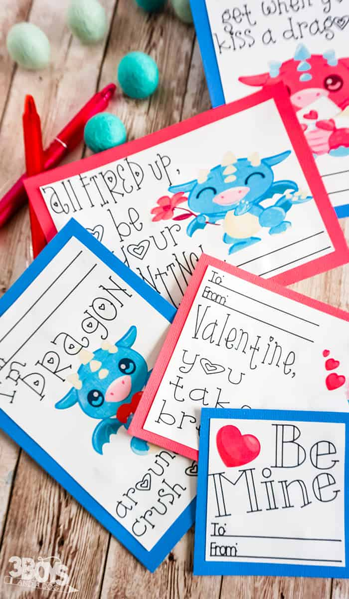 valentines cards with dragons