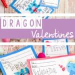 dragon valentine card printable