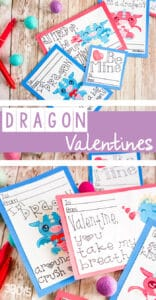 dragon valentine card printable