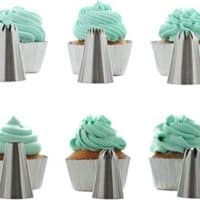 Stainless Steel Extra-Large Cup Cake Piping Icing Decoration Tips Set