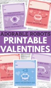 sweet face robots valentine cards