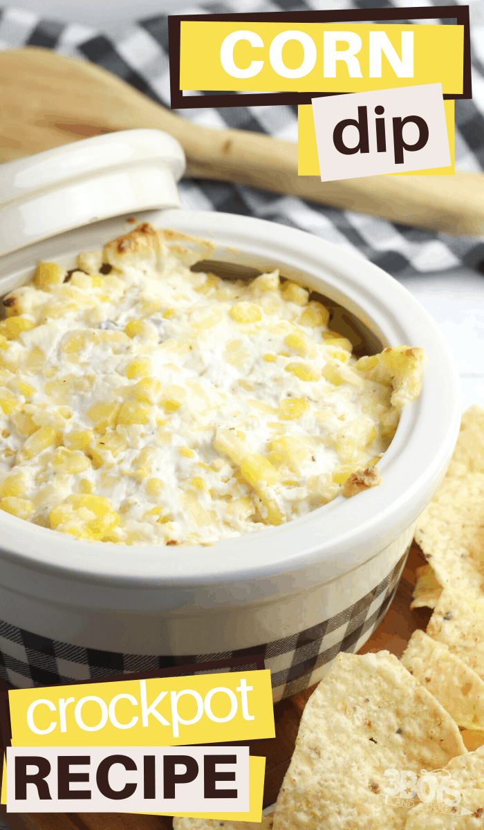 slow cooker appetizer of cheesy corn dip