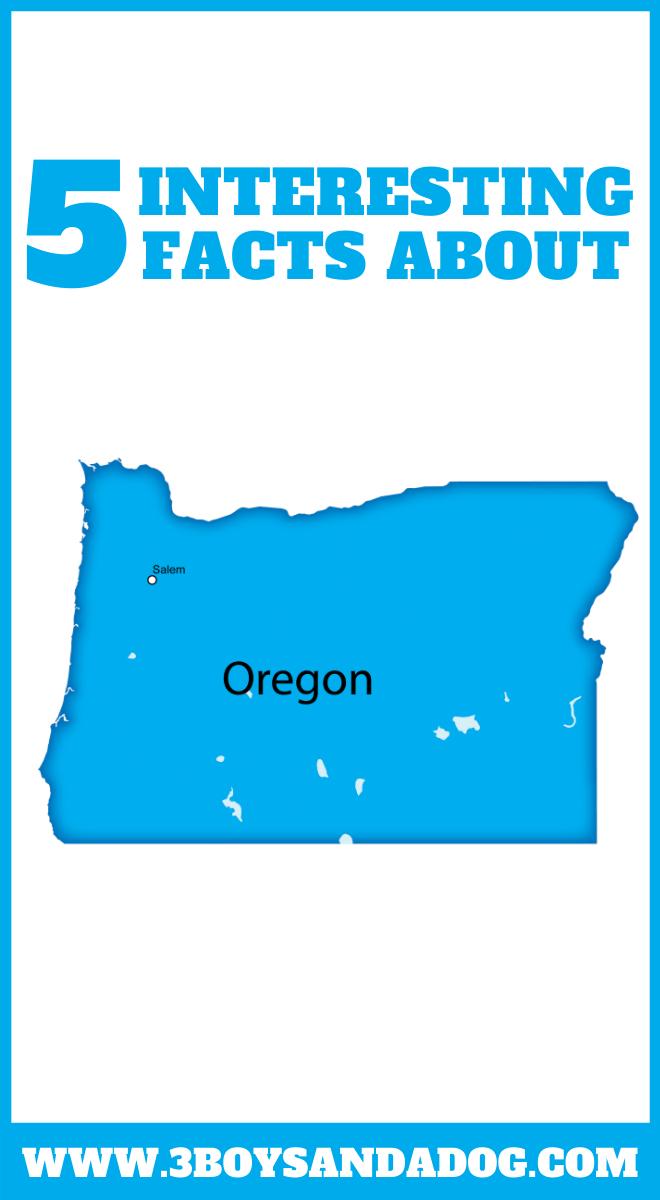 state unit study about Oregon