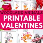 adorable woodland creatures printable valentines