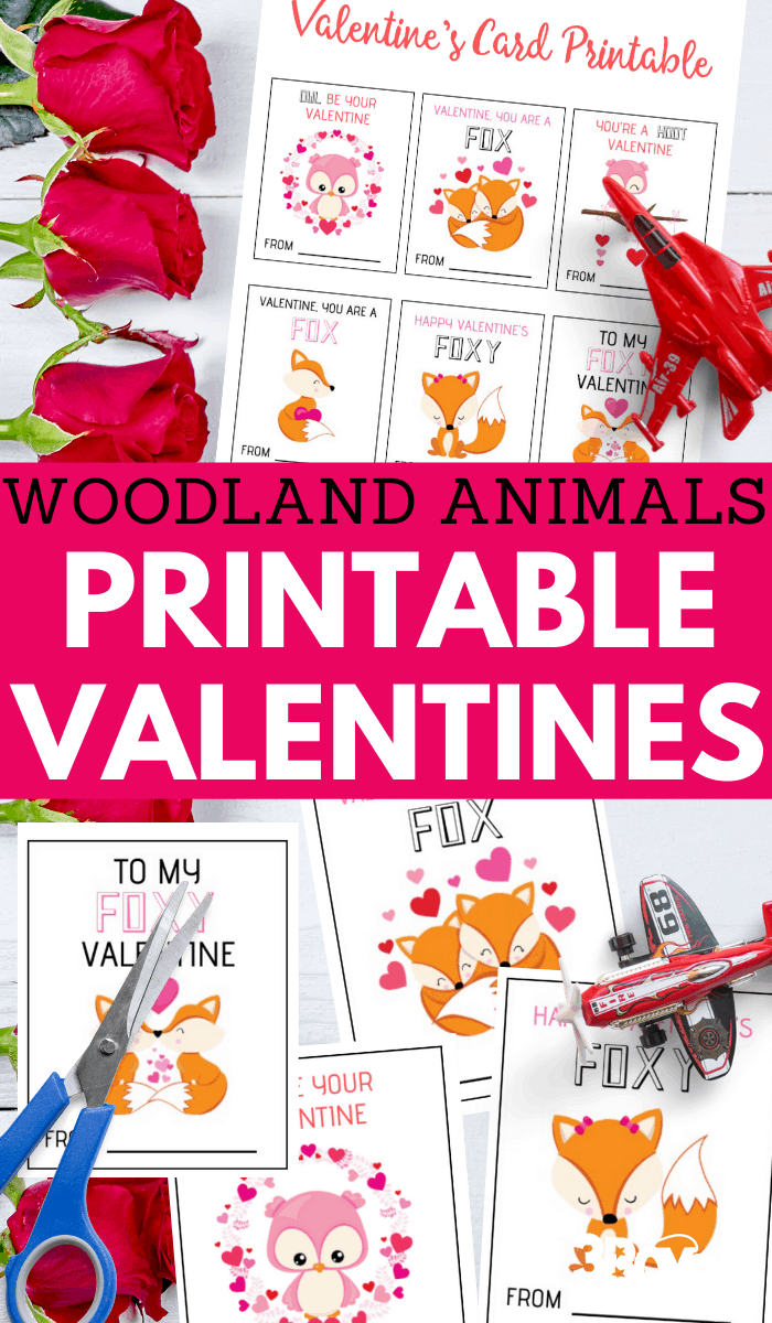 adorable woodland creatures printable valentines
