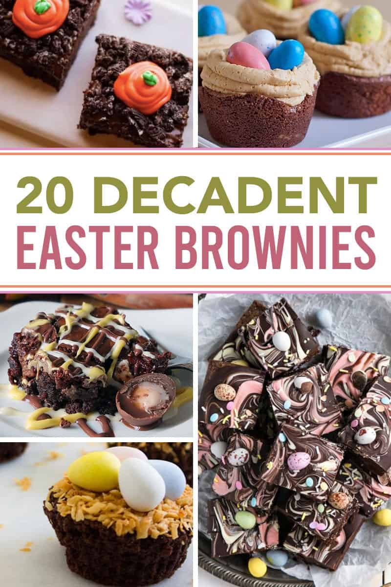 fun easter brownies
