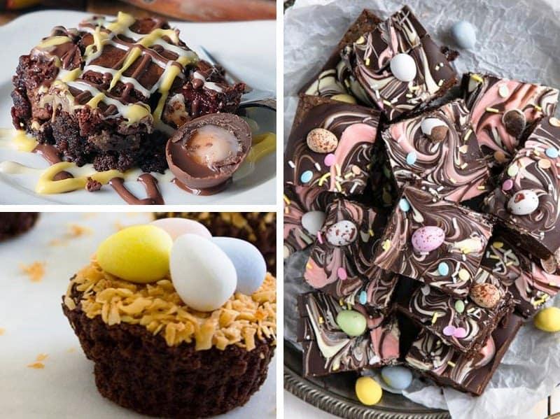 20 decadent easter brownies
