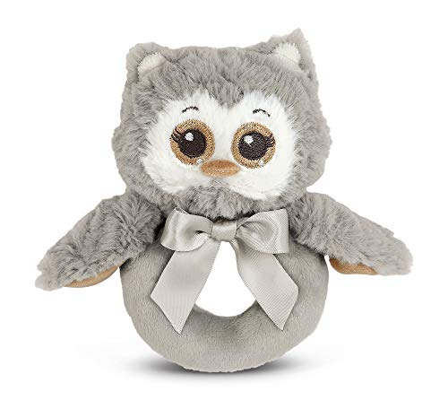 Gray Owl Soft Ring Rattle